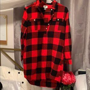 Plaid T-Shirt dress